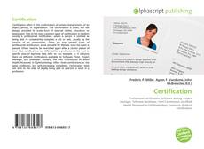 Bookcover of Certification