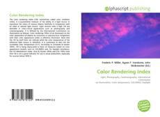 Portada del libro de Color Rendering Index