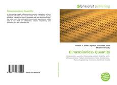 Bookcover of Dimensionless Quantity