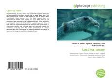 Buchcover von Lazarus taxon