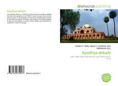 Portada del libro de Ayodhya debate