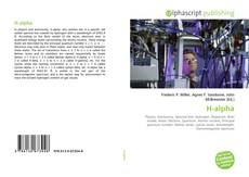 Bookcover of H-alpha