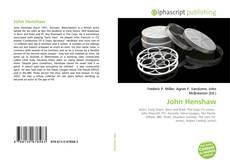 Обложка John Henshaw