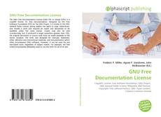 Bookcover of GNU Free Documentation License