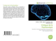 Обложка Critique de la Psychanalyse