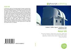 Bookcover of Axial tilt