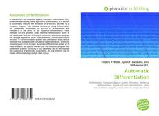 Bookcover of Automatic Differentiation