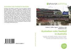 Bookcover of Australian rules football in Australia