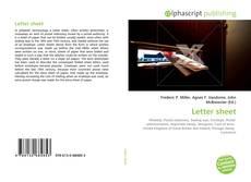 Bookcover of Letter sheet