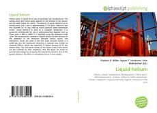 Bookcover of Liquid helium
