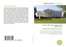 Couverture de Federal Architecture