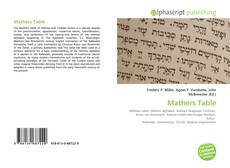 Bookcover of Mathers Table