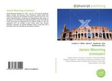 Portada del libro de James Manning (minister)