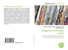 Bookcover of Indigenous Australian music