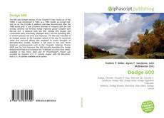 Buchcover von Dodge 600