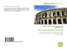 Bookcover of First Babylonian Dynasty