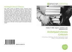 Bookcover of Archetypal Literary Criticism