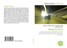 Bookcover of Dodge D Series