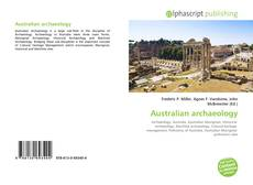 Bookcover of Australian archaeology