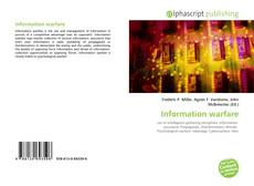 Bookcover of Information warfare