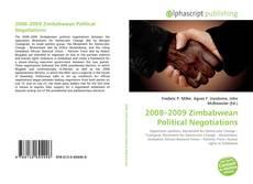Bookcover of 2008–2009 Zimbabwean Political Negotiations