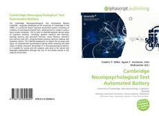 Buchcover von Cambridge Neuropsychological Test Automated Battery