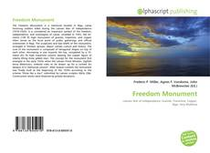 Bookcover of Freedom Monument