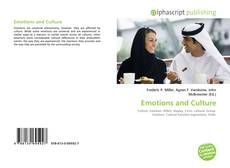 Bookcover of Emotions and Culture