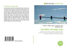 Bookcover of Variable-message sign