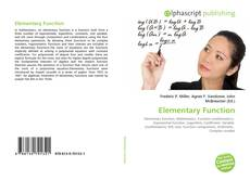 Bookcover of Elementary Function