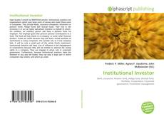 Bookcover of Institutional Investor