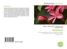 Bookcover of Deciduous