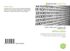 Bookcover of Affine cipher