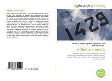 Couverture de Affine arithmetic