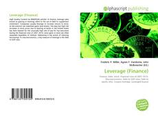 Bookcover of Leverage (Finance)