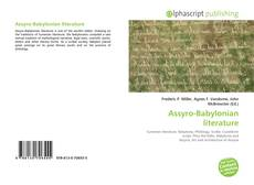 Bookcover of Assyro-Babylonian literature