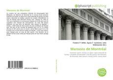 Capa do livro de Maroons de Montréal