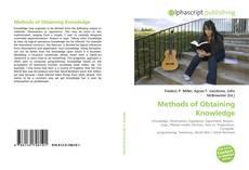 Capa do livro de Methods of Obtaining Knowledge