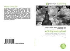 Bookcover of Affinity (canon law)