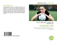 Обложка Cambridge rules