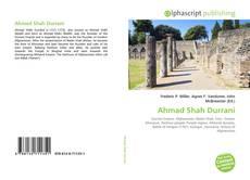 Bookcover of Ahmad Shah Durrani