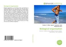 Bookcover of Biological organisation