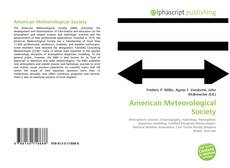 Bookcover of American Meteorological Society
