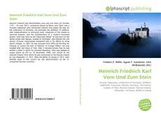 Borítókép a  Heinrich Friedrich Karl Vom Und Zum Stein - hoz
