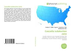 Bookcover of Cascadia subduction zone