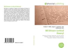 Bookcover of Bill Brown (critical theory)
