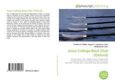 Capa do livro de Jesus College Boat Club (Oxford)