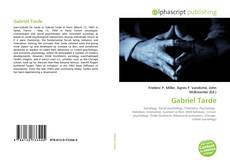 Bookcover of Gabriel Tarde