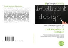 Copertina di Critical Analysis of Evolution