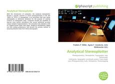 Copertina di Analytical Stereoplotter